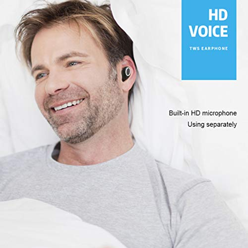 ALIKEEY Kabellose Kopfhörer Mini Twins Echte Sport Ohrhörer mit Bluetooth In Ear Stereon Ohrhörer für iPhone, iPad, Samsung, Huawei, xiaomi und mehr - 5