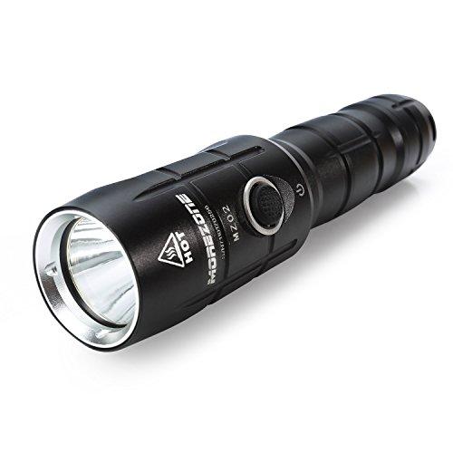 MOREZONE Starke LED Taschenlampen Wiederaufladbar, CREE XM-L2 T6 Extrem Hell LED, IP-X6 Wasserdichte Elekin Taktische Flashlight für Camping Wandern Handlampe Mit 4 Modis Einstellbar [Inklusive 18650_3000mAh Akku]