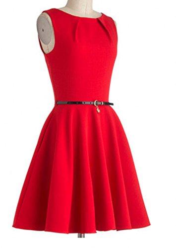 Eyekepper Robe cocktail Femme / Mademoiselle - Robes Vintage 1950 Rouge