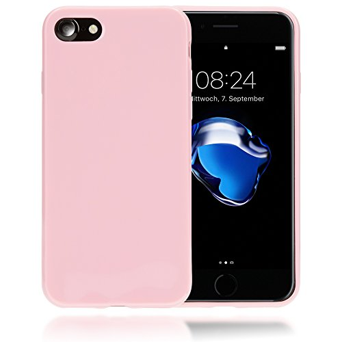 delightable24 Protezione Cover Case in Silicone TPU Jelly per Smartphone APPLE IPHONE 7 - Rosa