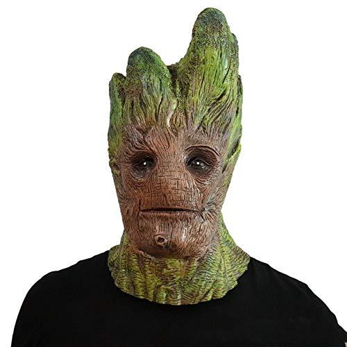 Erwachsene Für Kostüm Mann Baum - QQWE Grüner Baum Mann Maske Halloween Maske Cosplay Maskerade Erwachsene Gesicht Helm Film Kostüm Prop,Green-OneSize