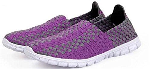 DADAWEN Chaussures de Course pour Mixte Adulte Violet
