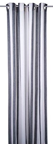 Tom Tailor 564383 T-Casual Material Ösenschal, Polyester, weiß / schwarz, 245 x 140 cm
