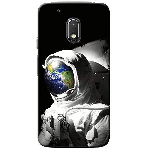 Astronautenanzug & Spiegelbild der Erde Hartschalenhülle Telefonhülle zum Aufstecken für Motorola Moto G4 Play