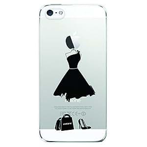 Coque souple My Little Black Dress transparente pour Apple iPhone 5/5S