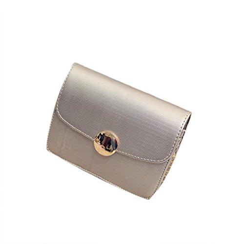 2017 Kangrunmy Le donne sacchetti della borsa catena Donne Messenger Bag sopra le spalle il sacchetto femminile del sacchetto Argento