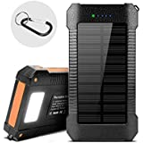 Solar Power Bank,22000mAh Portable Solar Phone Charger,High Capacity Solar Charger With 4Fast Charging Ports, External Backup Solar Panel,IPX7 Waterproof,For All Smart Phone,Tablet And More