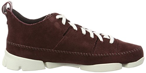 Clarks Originals Trigenic Flex, Baskets mode homme Rouge (BURG Suede)