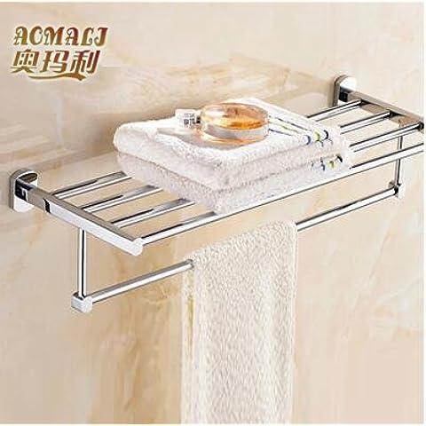 Rame asciugamano mensola con doppia porta asciugamani bagno hardware accessori bagno 45cm55cm Hotel 50cm Towel rack 50cm