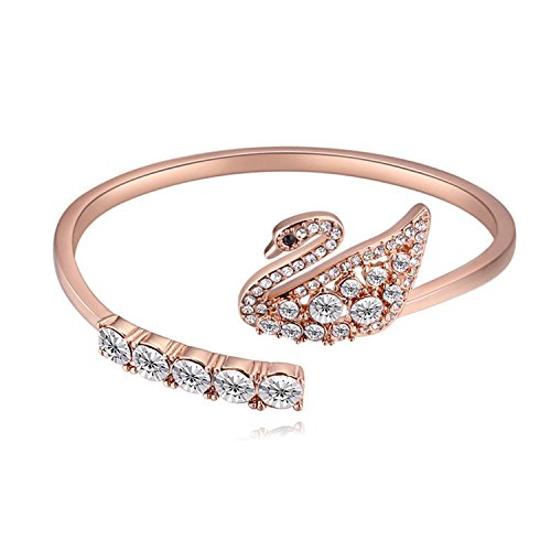 SNHWARE Bracelet Fashion Swan Form Kristall Armband,White