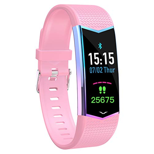 LV08 Farbdisplay Multifunktions-Herzfrequenz-Tracker Blutsauerstoff-Schlafüberwachung IP67 Wasserdicht Touchscreen Smart Bluetooth Sportarmband/Für Android iOS-Geräte und Software
