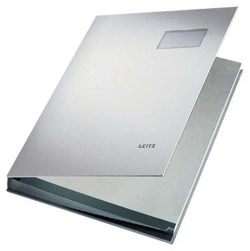 Leitz Unterschriftenmappe 5700-85 20Fächer PP grau