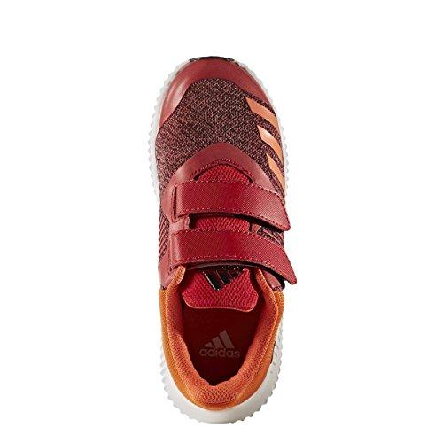 adidas Unisex-Kinder Fortarun Cf K Sneakers SCARLE/ENEORA/FTWWHT