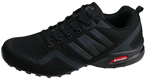 gibra® Herren Sneaker Sportschuhe, Art. 7737, sehr leicht und bequem, schwarz, Gr. 43