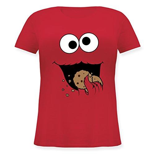 - Keks-Monster - L (48) - Rot - JHK601 - Lockeres Damen-Shirt in großen Größen mit Rundhalsausschnitt ()