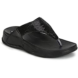 PURE HF-06 Flip Flops for Women (7UK, Black)