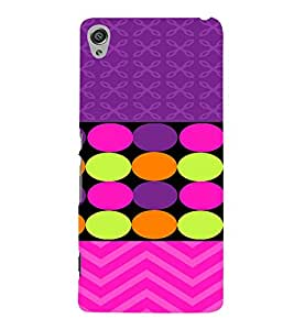 PrintVisa Chevron & Dots Pattern 3D Hard Polycarbonate Designer Back Case Cover for Sony Xperia XA