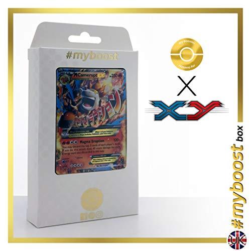 MEGA CAMERUPT EX XY198 - #myboost X XY - Box mit 10 Englische Pokémon-Karten