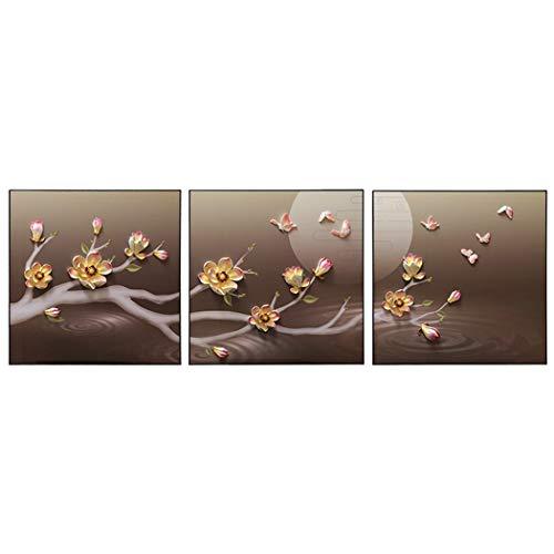 Yongyong Wandbild Neuen Chinesischen Stil Wohnzimmer Moderne Dekorative Malerei Reiche Äste Hängen Malerei Wandbild Stereo 3D Relief Malerei 60 * 60 cm (Farbe : B, größe : 60 * 60cm) - Crystal Malt
