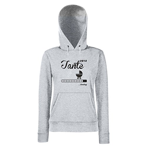 Damen Hoodie - Tante 2018 ...loading - von SHIRT DEPERTMENT grau-fuchsia