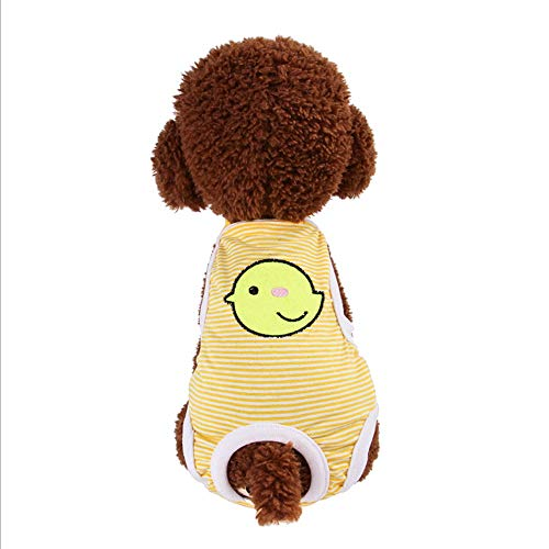AIOO Pet Kleidung Menstruationshose Schlampe Gesundheitshose SHU kann eine Vielzahl von Größen universelle Sicherheitshosen einstellen (Color : Yellow, Größe : L) -