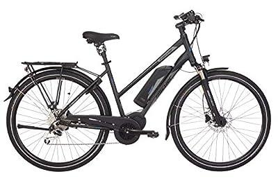 "FISCHER Damen - E-Bike Trekking ETD 1861.1 (2019), schwarz matt, 28"", RH 44 / 49 cm, Mittelmotor 80 Nm, 48V Akku"