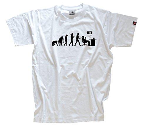 Behörde Weißes T-shirt (Standard Edition Oeffentlicher Dienst Beamter Zulassungsstelle Evolution T-Shirt weiss M)