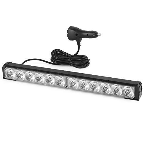 DC24v / 12 v punktstrahl 14inch 36 watt auto lichtleiste Strobe licht arbeitslicht mit ladegerät stecker für Offroad Auto Lkw Boot Anhänger (Led Road Off Lichtleiste Strobe)