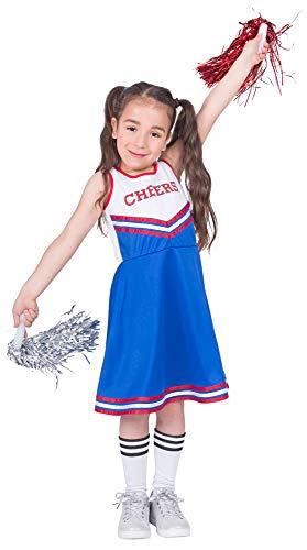 Kostüm Kinder Cheer - Cheerleader Cheers Kostüm für Mädchen - Gr. 140