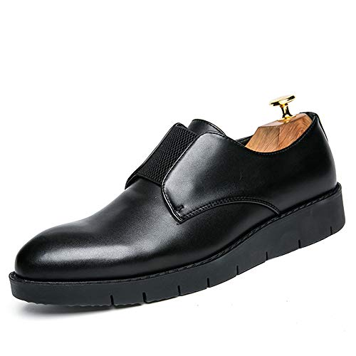 XHD-Chaussures Oxford Casual Vogue pour Hommes d'affaires de la Mode est Couvert Slip on Base épaisse Heighten Contracted Chaussures Formelles