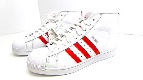designer fashion a558c 13425 adidas Sneaker Alta Courtvantage Bianco Rosso EU 38 2 3 (UK 5.5)