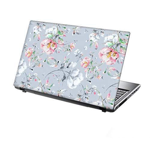 TaylorHe Folie Sticker Skin Vinyl Aufkleber mit bunten Mustern für 13-14 Zoll (34cm x 23,5cm) Laptop Skin Vintage Blumen, elegant
