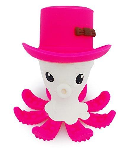 Preisvergleich Produktbild BPA frei Baby- Beißring ,MÄRZANGEBOT hilft Gums zu stimulieren und Lindert Schmerzen beim Zahnen - Otto The Octopus . Auswahl aus 5 helle Farben, weiche , Lebensmittel Grage Silikon . Sicher und Fun (Rosa)