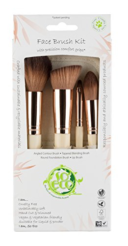 So Eco Set de 4 pinceaux de maquillage pour le visage