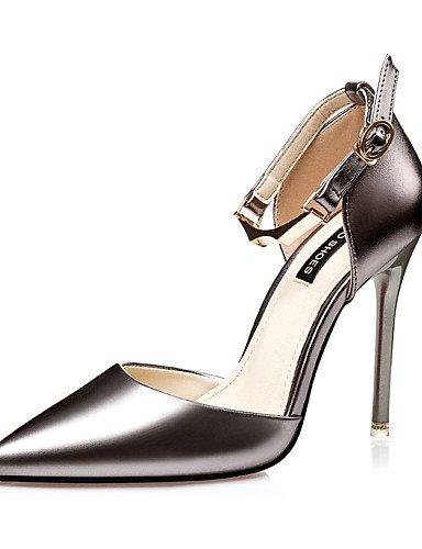 WSS 2016 Chaussures Femme-Habillé-Noir / Rose / Argent / Or-Talon Aiguille-Talons / Bout Pointu / Bout Fermé-Talons-Similicuir black-us5.5 / eu36 / uk3.5 / cn35