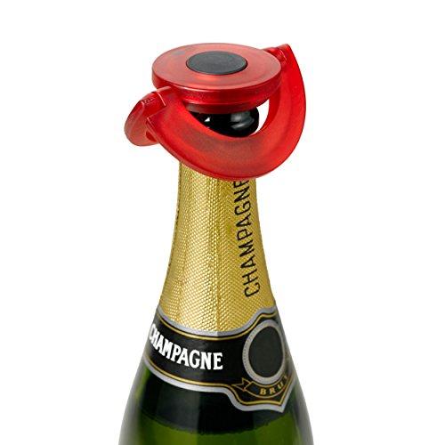 AdHoc FV35– Verschluss für Sekt oder Champagner, aus Silikon, Rot, Ø 8,2cm -