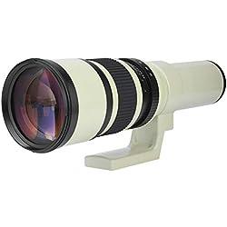 VBESTLIFE Téléobjectif 500mm F6.3 pour Appareils Photo, Verre Multi-Couche, Dernière Technique.(Adaptateur T2-AI pour Nikon)