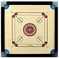 Tryviz Full Size Carrom Board with Transparent Plastic Coins, Striker and Carrom Free Powder (Large, 32 Inches)