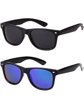 ADEWU Gafas de sol polarizadas Wayfarer Vintage Retro Gafas de aviador para mujeres Hombre