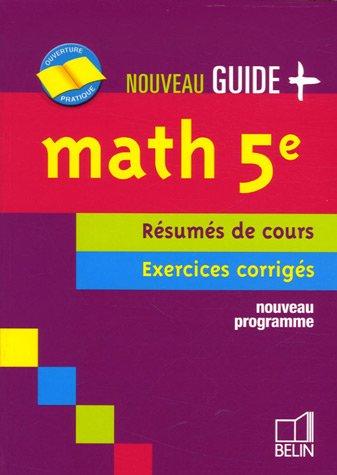 Math 5e : Rsums de cours Exercices corrigs