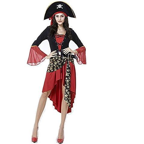 Femmes Sexy Déguisement Halloween mer pirate boucanier Uniformes (Sexy Del Wench Del Pirata)