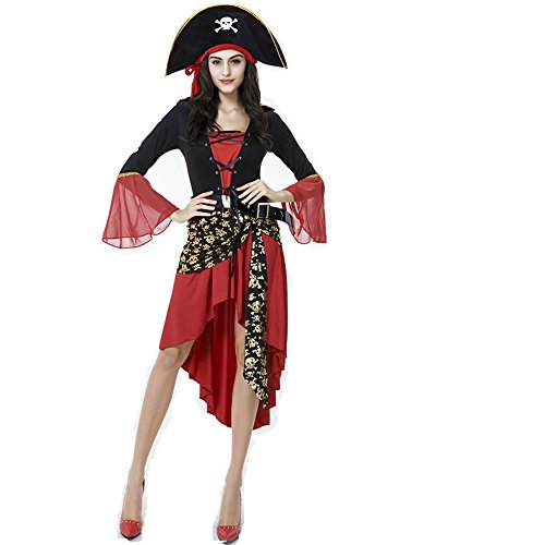 Frauen Sexy Fancy Kleid Halloween-Kostüm SEA Pirat Buccaneer Uniformen Versuchung Sexy Vixen Pirate