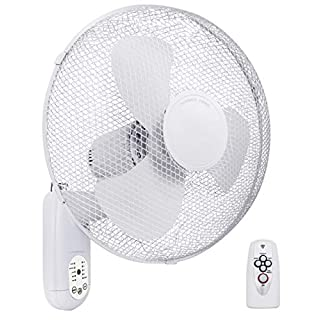 16inch Oscillating Wall Fan Remote Control with Timer 3 Speed