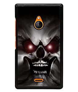 PrintVisa Angry Skull Warrior High Gloss Designer Back Case Cover for Nokia XL