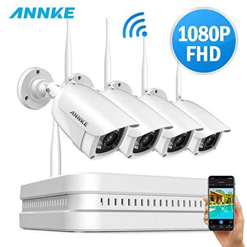 SANNCE Kit Cámaras de Seguridad wifi 4CH 1080P
