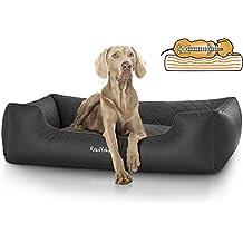 Knuffelwuff Madison - Cama ortopédica para perros, piel sintética cosida ...