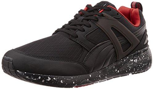 Puma Aril Modern Tech Unisex-Erwachsene Sneakers Schwarz (black-high risk red 01)