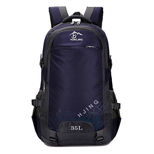 35L Outdoor Sport Neutraler Rucksack Nylon Wasserdichter Camping-Tourismus Bergsteigen Tasche deep blue