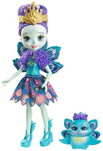 Enchantimals Muñeca con mascota Pippa Peacock (Mattel DYC76)