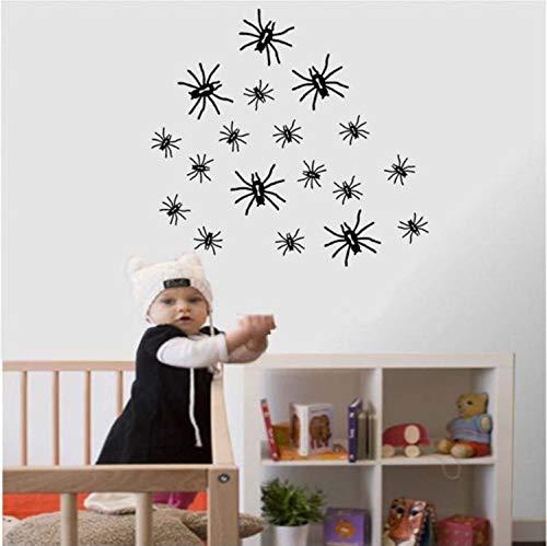 qwerdf Spider Wallpaper Happy Halloween Hintergrund Wall Sticker Fenster Zu Dekorationsraum Dekoriert Muursticker